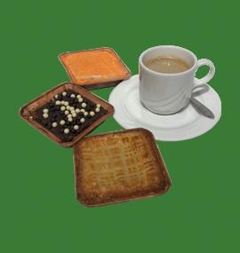 Assorti boterkoek, brownie en worteltaart - Verzendgebak - Tafellunch